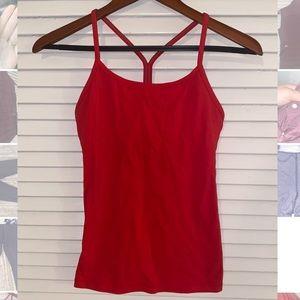 Red lululemon workout tank top
